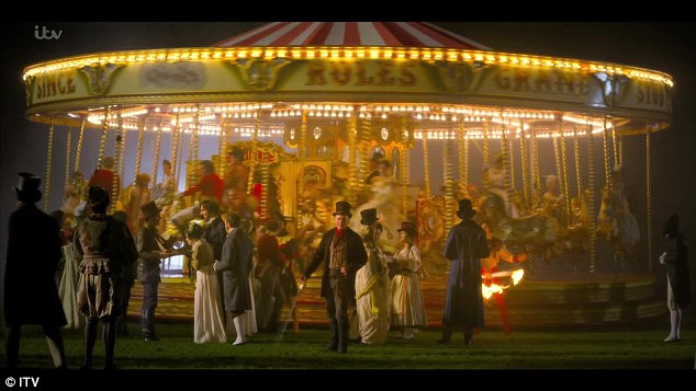 Here we go:Vanity Fair was certainly modern. The opening credits sequence showing the lead characters spinning round on a Victorian fairground ride to the sound of the famous Jimi Hendrix anthem All Along The Watchtower was a bit of a clue